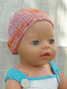 Baby- oder Puppenmütze